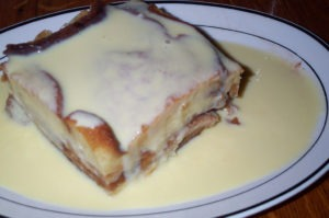Carbalose Bread Pudding Vanilla Cream Drizzle