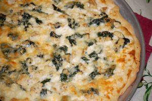 Low Carb Chicken Shrimp Thai Pizza