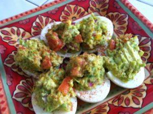Keto Guacamole Egg Bombs