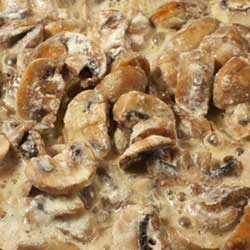 Low Carb Creamed Hungarian Mushrooms