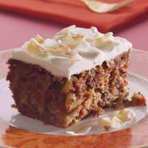 Low Carb Carrot Zucchini Cake Cream Cheese Frosting