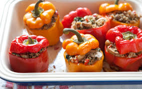 Low Carb Stuffed Red Peppers