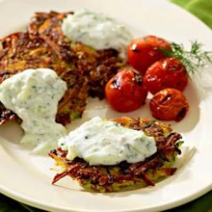 Low Carb Zucchini Cheese Latkes