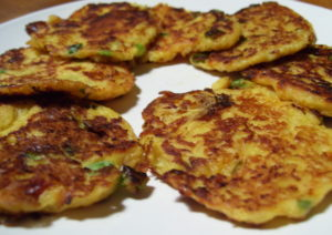 Low Carb Spaghetti Squash Latkes With Lemon Sage Butter