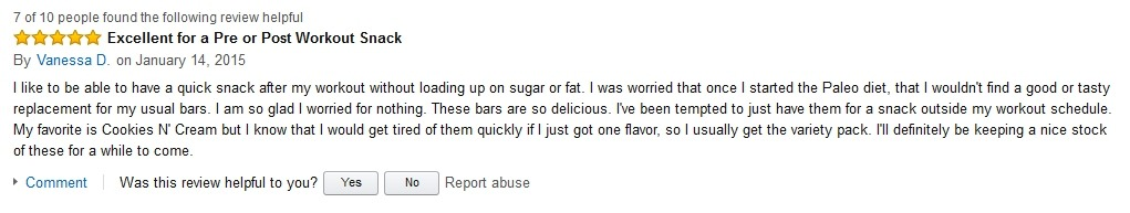 VanessaD Hidden Julian Bakery Review on Amazon