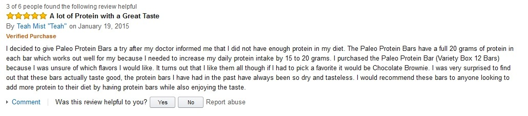 Teah Mist Hidden Julian Bakery Review on Amazon