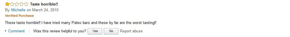 Michelle Hidden Julian Bakery Review on Amazon