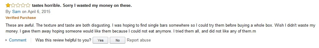 Sam 2 Hidden Julian Bakery Review on Amazon