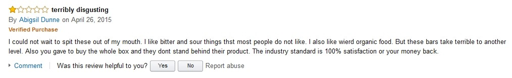 Abigsil Dunne Hidden Julian Bakery Review on Amazon