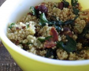 Cauliflower Bacon Quinoa Salad