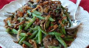 Low Carb Green Bean Mushroom Bacon Casserole