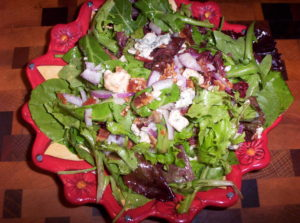 Bacon Blue Cheese Purple Onion Salad