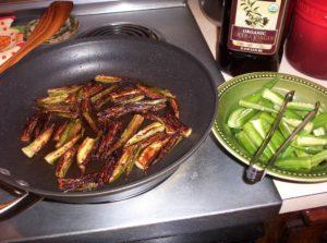 Low Carb Fried Okra Sticks