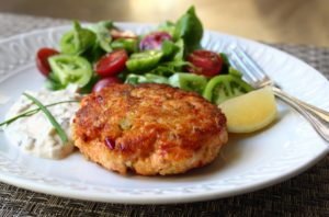 Low Carb Salmon Cakes & Tartar Sauce
