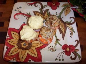 Low Carb Crab Stuffed Shrimp