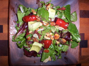Low Carb Bacon Almond Avocado Salad