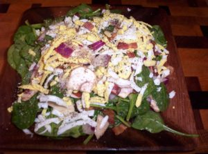 Low Carb Wilted Spinach Salad