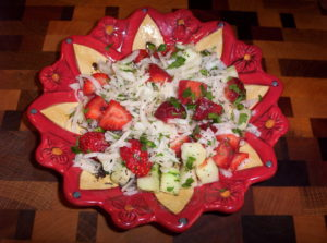 Low Carb Jicama Strawberry Cucumber Salad